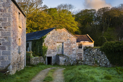 Old farm buildings on the estate at Godolphin House, near Helston, Cornwall