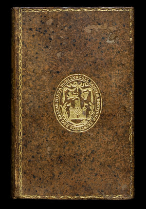 Prize binding of Trinity College, Dublin, on Adam Smith