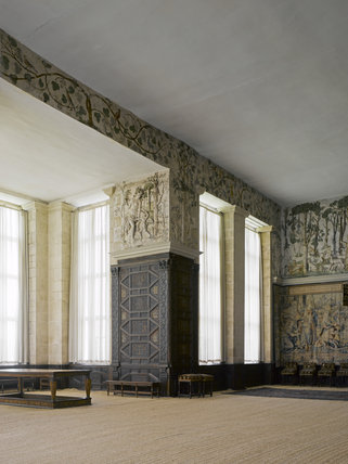 The High Great Chamber, looking towards the window recess, at Hardwick Hall, Derbyshire