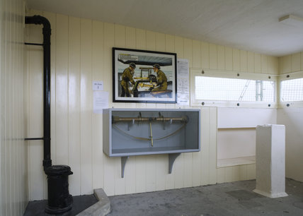 The display in the Fire Command Post, in the cabinet is an artillery range and position finder, at the Needles Old Battery, built in 1862 following the threat of a French invasion, Isle of Wight