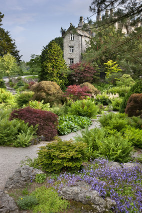 The Rock Garden in June at Sizergh Castle, near Kendal, Cumbria