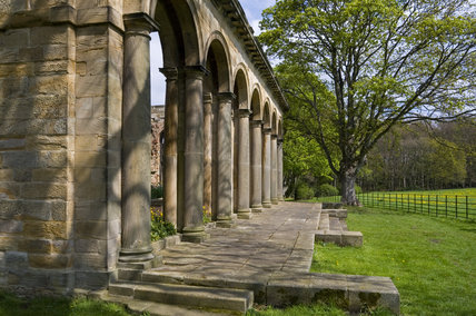 The Orangery, which was begun in 1772 to a design attributed to James Paine, at Gibside, Newcastle upon Tyne