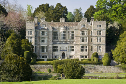 The exterior of Fountains Hall built between 1598 and 1611 which was partly built with stones from the ruins of Fountains Abbey, North Yorkshire