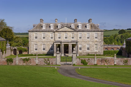 The south front of the house at Antony, Cornwall