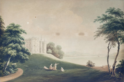 VIEW OF PLAS NEWYDD FROM THE SOUTH  by John