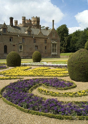 The Victorian French Parterre at Oxburgh Hall, King's Lynn, Norfolk