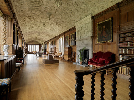 The Long Gallery at Lanhydrock, Cornwall