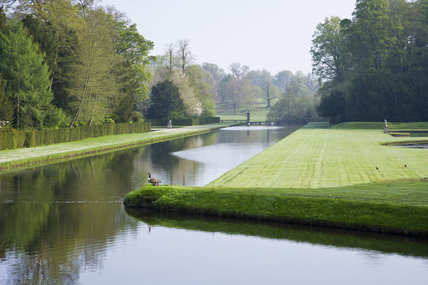 The canal at Studley Royal Water Garden, adjoining the estate at Fountains Abbey, North Yorkshire
