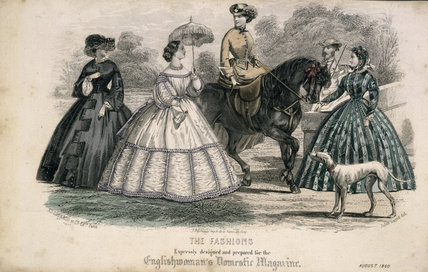 English Woman's Domestic Magazine, August 1860 The fashions expressly designed and prepared for the magazine, Jules David edition Ad