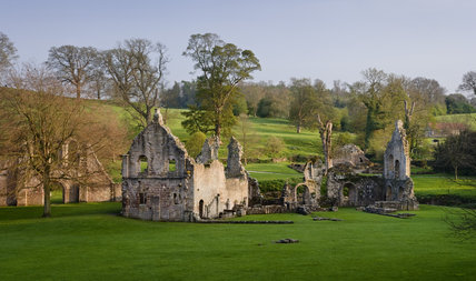 The remains of the Guesthouse at Fountains Abbey, North Yorkshire