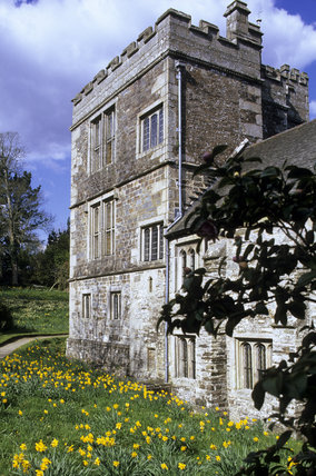 The north-west tower at Cotehele, Cornwall, is thought to have been added to the Tudor house in the 1620s
