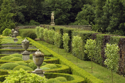 Gardens designed by James Russell in 1947 with enhancements by Lady Hastings at Seaton Delaval Hall, Northumberland