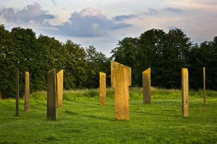 The Millennium Stones, a modern standing stone circle, installed at Gatton Park, Surrey, by The Jerusalem Trust to mark 2000 years since the birth of Christ