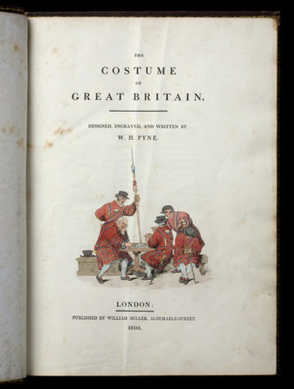Illustration on the title page of The Costume of Great Britain, at Castle Ward, Co. Down, Northern Ireland.
