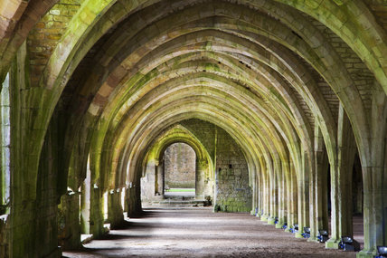 The Lay Brothers Refectory at Fountains Abbey, Yorkshire