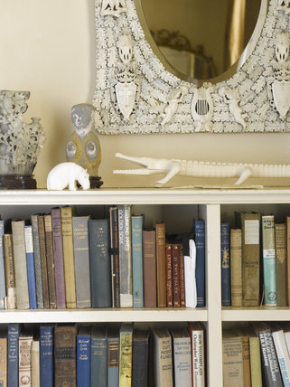 Bookshelves In Agatha Christie S Bedroom At Greenway