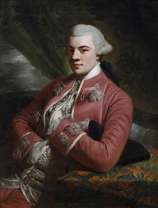 HENRY, LORD PAGET, LATER 1ST EARL OF UXBRIDGE (1744-1812), English School, c.1760s, painting in the Ante-Room  at Plas Newydd, Anglesey.