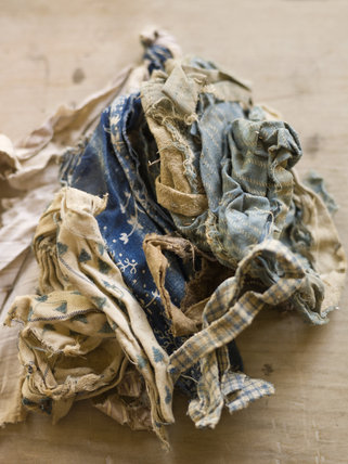 Scraps of cloth found on a farm near Kingston Lacy, Dorset