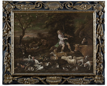 ORPHEUS CHARMING THE ANIMALS by Francesco Bassano (1549-92), painting in the Duke's Dressing Room at Ham House, Richmond-upon-Thames