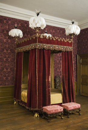 The State Bed in the Queen Anne Room at Dunham Massey, Cheshire