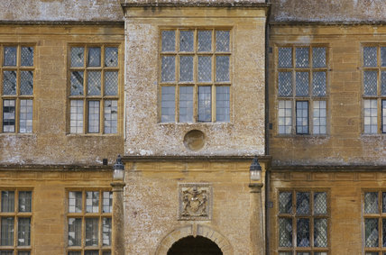 Close view of the exterior of Montacute House, Somerset