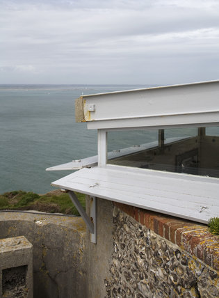 Looking out to sea from the Needles Old Battery, built in 1862 following the threat of a French invasion, at the far western point of the Isle of Wight