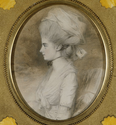 DOROTHEA BARNETTA GIBBS, (1760-1820), a miniature by John Downman ARA (c.1750-1824) dated 17
