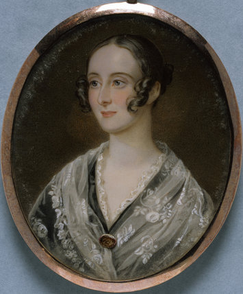 ALBINIA CRAWLEY-BOEVEY, MRS GEORGE DAUBENY a miniature by Magdalena (Ross) Dalton after Sir