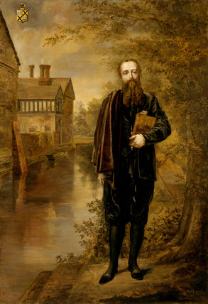 THE PHILOSOPHER'S MORNING WALK, a portrait of Edward Heneage Dering by Rebecca Dulcibella Or