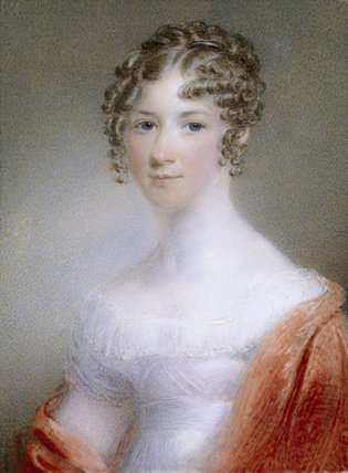 EMMA WILLIAMS, a miniature by an anonymous artist