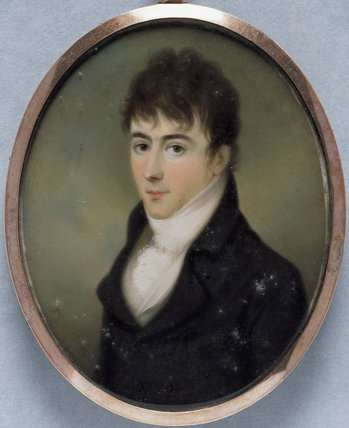 GEORGE GIBBS a miniature by James Leakey, 1802