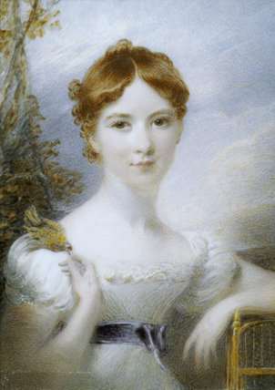 ELLIN WILLIAMS, wife of the Hon William Owen Stanley a miniature by an unknown artist