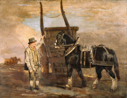 A FARMER WITH A HORSE AND CART by Ben Marshall (1767-1835) signed and dated