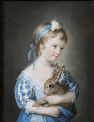 HENRIETTA RICE, (born 1758, married 1788), a pastel by John Russell (1745-1806)