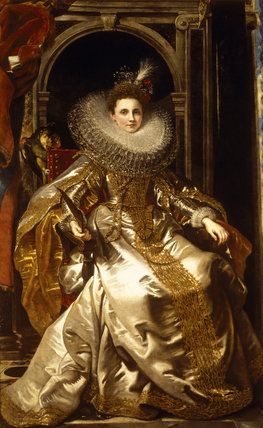 MARIA SERRA PALLAVICINO by Sir Peter Paul Rubens (1577-1640) hanging in the Saloon