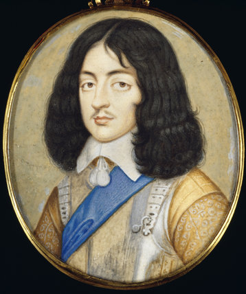 Miniature painting of CHARLES II AS A YOUNG MAN
