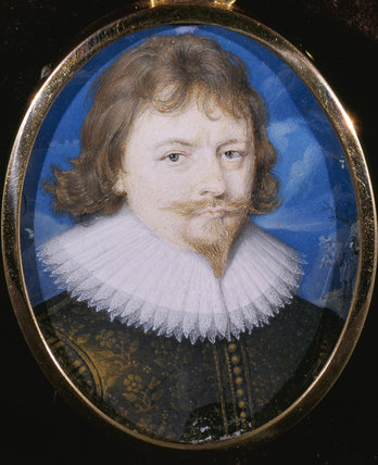 LORD DACRE, a miniature by John Hoskins, 1630, at The Vyne