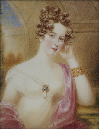 MARY (BLOXSOME), MRS ROBERT BRUCE CHICHESTER (?) portrait miniature by Emma Eleonora Kendric