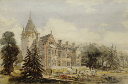 AN EARLY PERSPECTIVE DESIGN OF THE GARDEN C