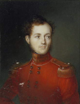 MAJOR GEORGE CHICHESTER portrait miniature, Italian School, 1835. Arlington Court, Devon. NT