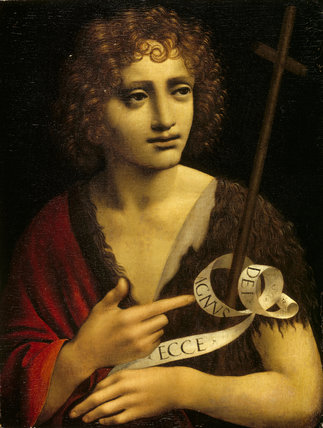 ST JOHN THE BAPTIST attributed to Boltraffio (Giovanni)