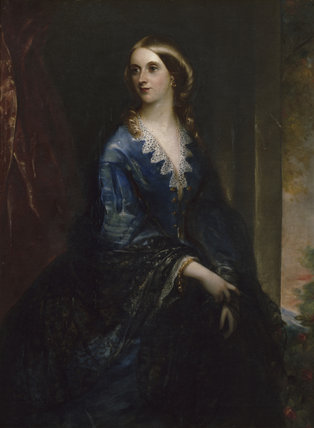 PORTRAIT OF MARIA HARRIET HESKETH by Grispini at Rufford Old Hall, photographed at correct exposure for painting. Frame size 156 x 128 cm