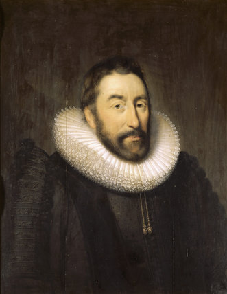 SIR WALTER PYE (1571 - 1635) by Cornelius Johnson, (1593 - 1661) at Wallington, in the Dining Room