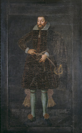 Portrait of a gentleman called ROBERT DEVEREUX, EARL OF ESSEX  by an unknown artist, at The Vyne