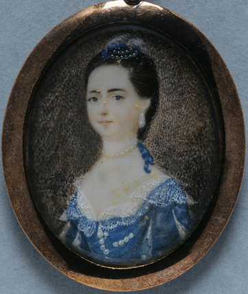 ANN SAVAGE, LADY CRAWLEY-BOEVEY, a miniature by Hannah Wollaston, c.1760,  at Tyntesfield, North Somerset. TYN/52