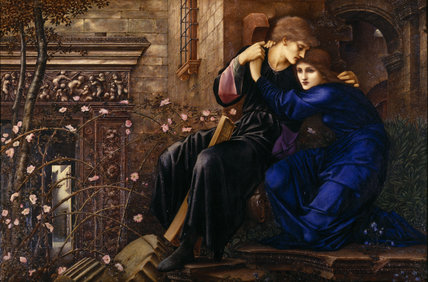 LOVE AMONG THE RUINS, oil on canvas c.1884