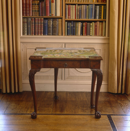 The Walnut Card Table from Lady Londonderry's Sitting Room