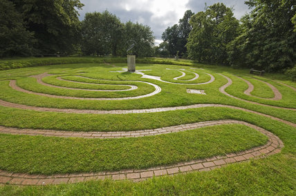 The pavement maze at Greys Court, Henley-on-Thames, Oxfordshire