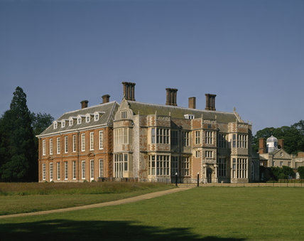 The South and West Fronts of Felbrigg Hall in Norfolk