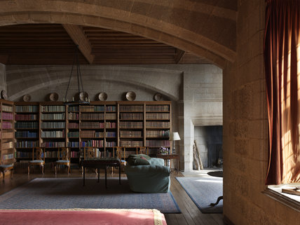 The Library at Castle Drogo, Devon